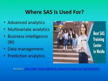 Tips For Data Science With  SAS Training Course