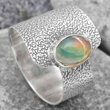 Wholesale Ethiopian Opal Silver Rings