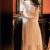 Gentle Style Dots Gauze Apricot Womens Dress