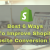 Best 6 Ways to improve Shopify Website Conversion Rate