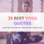 25 Best Yoga Quotes & Thought  - SHINING-SHIKARI