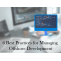 Best  Project Management Practices For Offshore Development