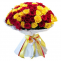 101 Yellow Red Roses in Big Bouquet Delivery | Glowing Beauty